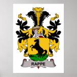 Escudo de la familia de Rappe Poster