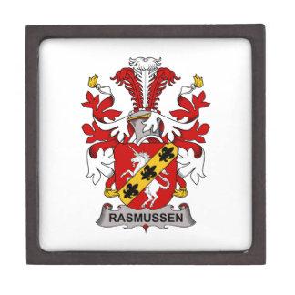 Escudo de la familia de Rasmussen Cajas De Recuerdo De Calidad