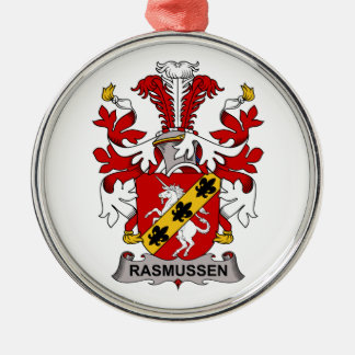Escudo de la familia de Rasmussen Adorno Redondo Plateado