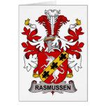 Escudo de la familia de Rasmussen Felicitacion