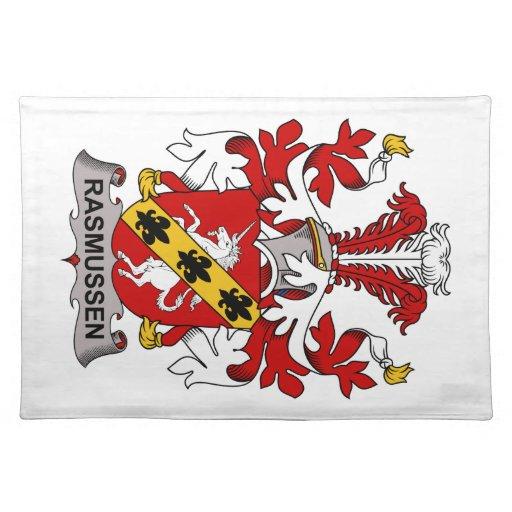 Escudo de la familia de Rasmussen Mantel Individual