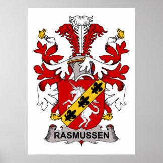 Escudo de la familia de Rasmussen Poster