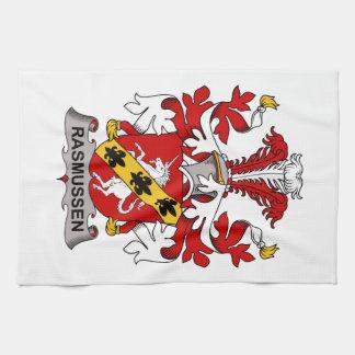 Escudo de la familia de Rasmussen Toalla De Mano