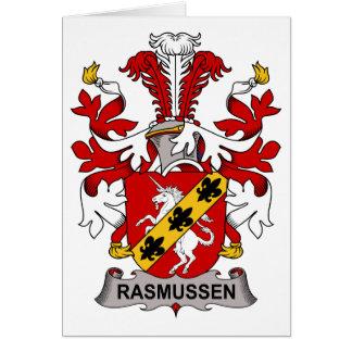Escudo de la familia de Rasmussen Tarjeta De Felicitación