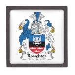 Escudo de la familia de Raughter Caja De Recuerdo De Calidad