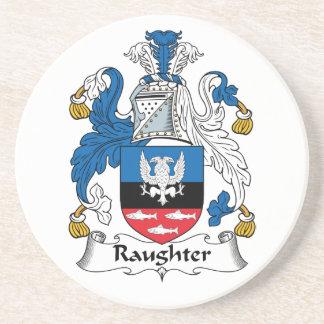 Escudo de la familia de Raughter Posavasos Personalizados