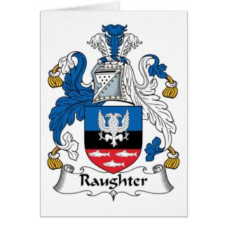 Escudo de la familia de Raughter Felicitacion