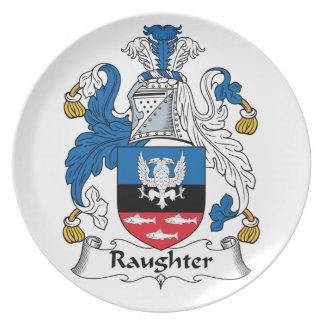 Escudo de la familia de Raughter Plato De Comida