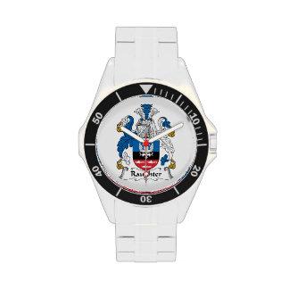 Escudo de la familia de Raughter Relojes De Mano