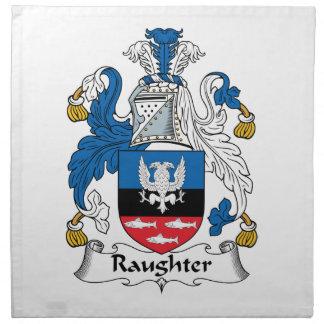 Escudo de la familia de Raughter Servilleta