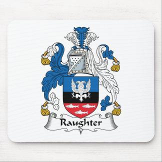 Escudo de la familia de Raughter Tapetes De Ratón