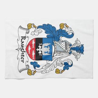 Escudo de la familia de Raughter Toallas