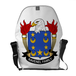 Escudo de la familia de Ravenel Bolsas De Mensajería