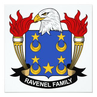 """Escudo de la familia de Ravenel Invitación 5.25"""" X 5.25"""""""