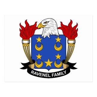 Escudo de la familia de Ravenel Postal