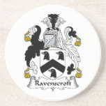 Escudo de la familia de Ravenscroft Posavasos Manualidades