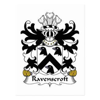 Escudo de la familia de Ravenscroft Postal