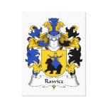 Escudo de la familia de Rawicz Impresión En Lona Estirada