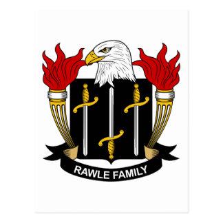 Escudo de la familia de Rawle Tarjeta Postal