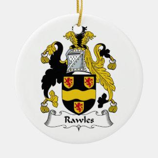 Escudo de la familia de Rawles Ornaments Para Arbol De Navidad