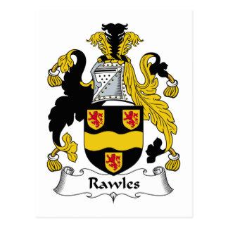 Escudo de la familia de Rawles Tarjetas Postales