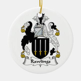 Escudo de la familia de Rawlings Ornamentos Para Reyes Magos