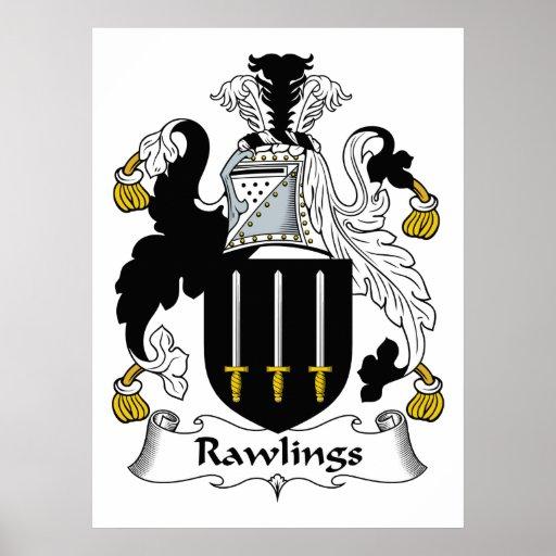 Escudo de la familia de Rawlings Posters