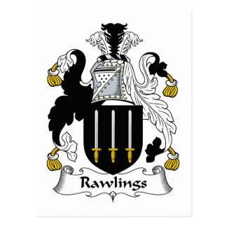 Escudo de la familia de Rawlings Tarjetas Postales
