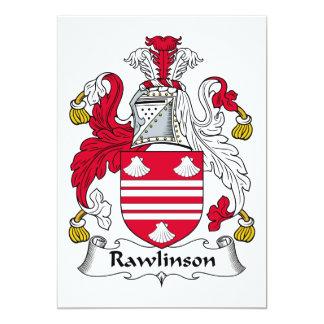 """Escudo de la familia de Rawlinson Invitación 5"""" X 7"""""""