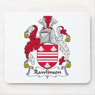 Escudo de la familia de Rawlinson Tapetes De Ratones
