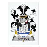 Escudo de la familia de Rawson Invitación 12,7 X 17,8 Cm