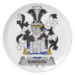 Escudo de la familia de Rawson Plato De Comida