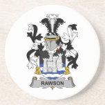 Escudo de la familia de Rawson Posavasos Cerveza