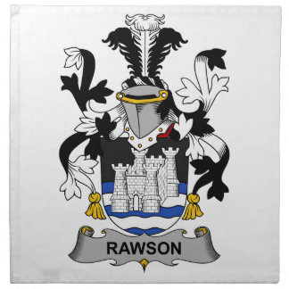Escudo de la familia de Rawson Servilleta De Papel