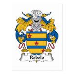 Escudo de la familia de Rebelo Postales