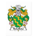 Escudo de la familia de Rebolledo Tarjeta Postal