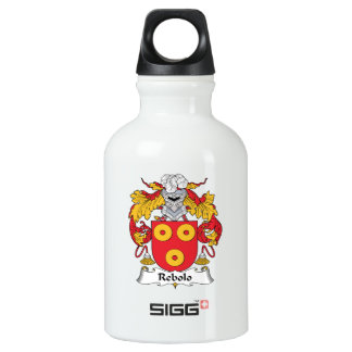 Escudo de la familia de Rebolo Botella De Agua De Aluminio