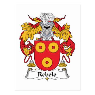 Escudo de la familia de Rebolo Postal