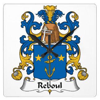 Escudo de la familia de Reboul Reloj Cuadrado