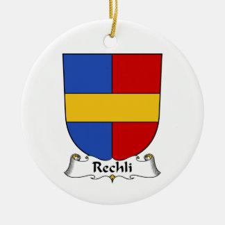 Escudo de la familia de Rechli Adorno Navideño Redondo De Cerámica