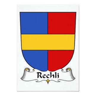 """Escudo de la familia de Rechli Invitación 5"""" X 7"""""""