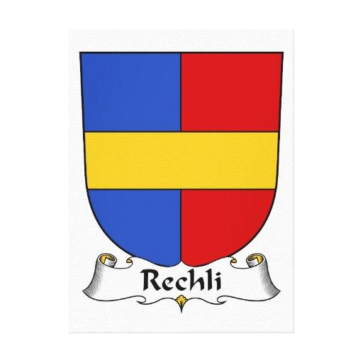 Escudo de la familia de Rechli Impresión De Lienzo