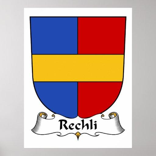 Escudo de la familia de Rechli Impresiones