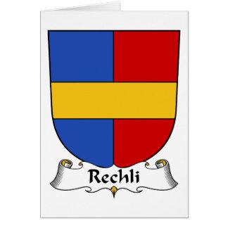 Escudo de la familia de Rechli Tarjeta De Felicitación