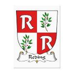 Escudo de la familia de Reding Lienzo Envuelto Para Galerias