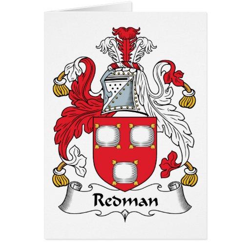 Escudo de la familia de Redman Tarjeton
