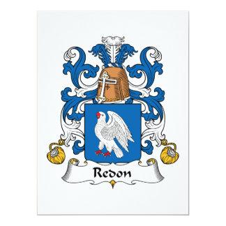 """Escudo de la familia de Redon Invitación 6.5"""" X 8.75"""""""