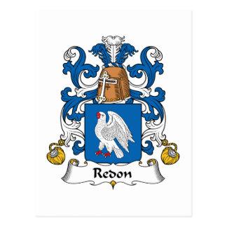 Escudo de la familia de Redon Postales