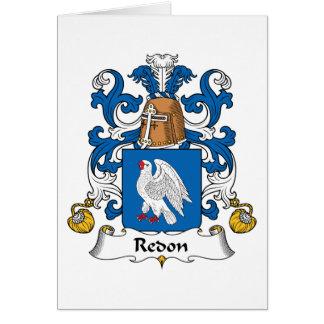 Escudo de la familia de Redon Tarjeta De Felicitación