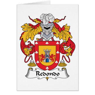 Escudo de la familia de Redondo Tarjeta De Felicitación